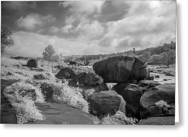 Devils Den Greeting Cards - Devils Den in IR Greeting Card by Guy Whiteley