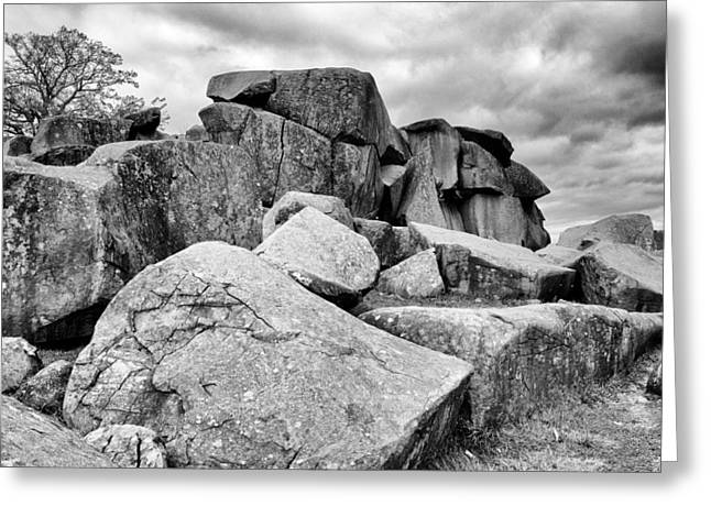 Devils Den Greeting Cards - Devils Den Rock Formations Greeting Card by Frank Burnside