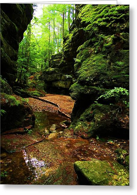 Devils Den Greeting Cards - Devils Den Greeting Card by Tim  Canwell