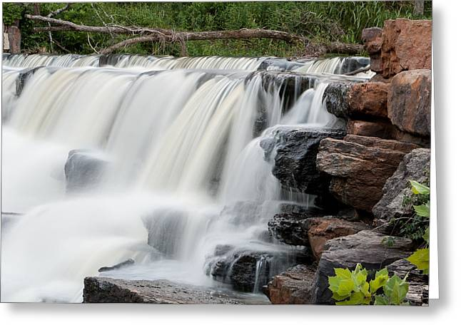 Devils Den Greeting Cards - Devils Den Waterfall Greeting Card by Dawn Romine