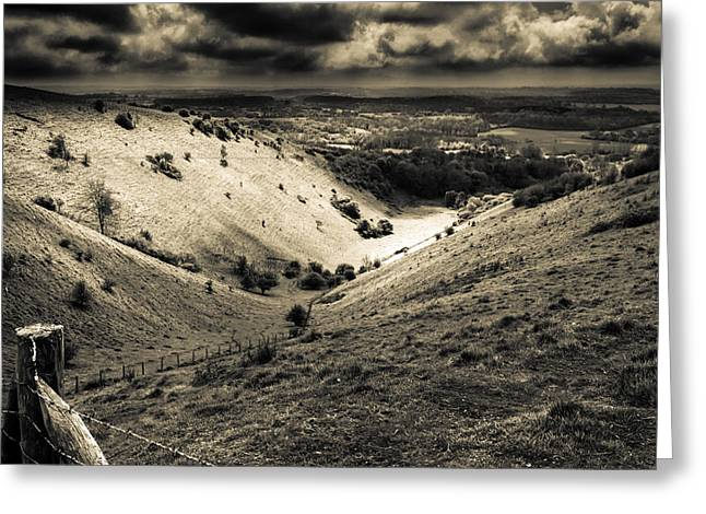 Devil Greeting Cards - Devils Kneading Trough Greeting Card by Ian Hufton