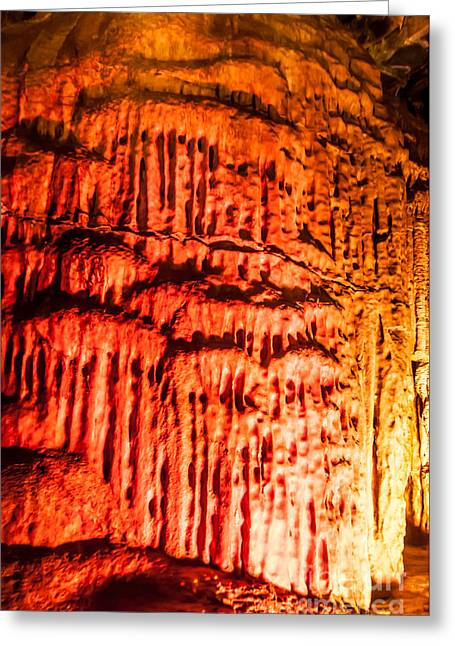Subterranean Greeting Cards - Devils Stalactite Greeting Card by Anthony Sacco