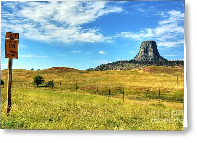 Devils Tower Encounter 1 Greeting Card by Mel Steinhauer