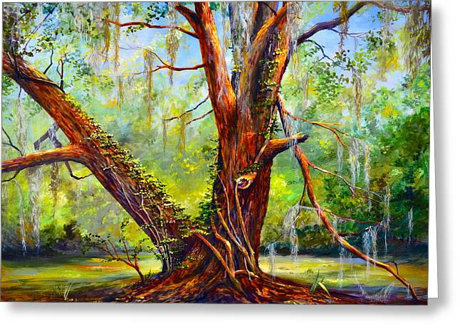 Al Fresco Greeting Cards - Devine Oak Greeting Card by AnnaJo Vahle