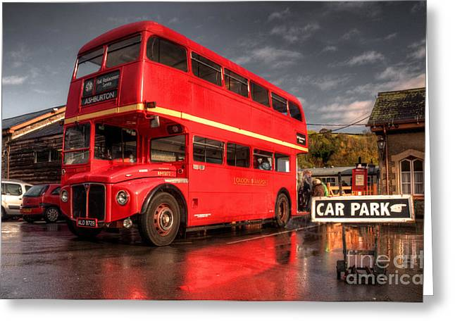 Dart Stations Greeting Cards - Devon Routemaster  Greeting Card by Rob Hawkins