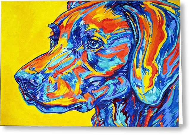 Working Dogs Paintings Greeting Cards - Devoted Friend Greeting Card by Derrick Higgins
