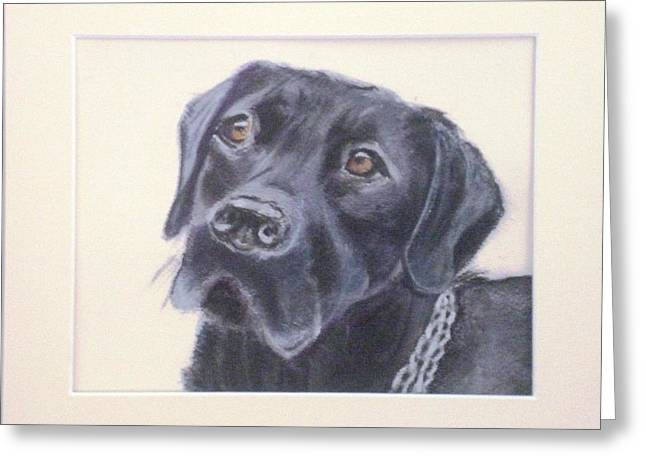 Puppies Pastels Greeting Cards - Devoted Greeting Card by Suzy Kedge