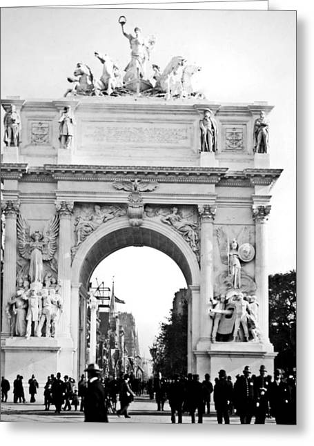 George Dewey Monument Greeting Cards - Deweys Arch New York 1900 Vintage Photograph Greeting Card by A Gurmankin