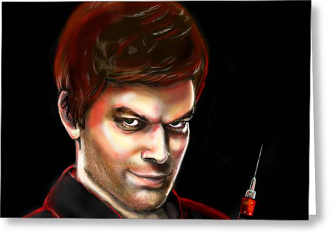 Dexter By Design Greeting Card by Vinny John Usuriello