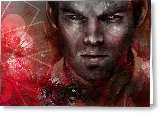Dexter Greeting Cards - Dexter Morgan Greeting Card by Barry Sachs