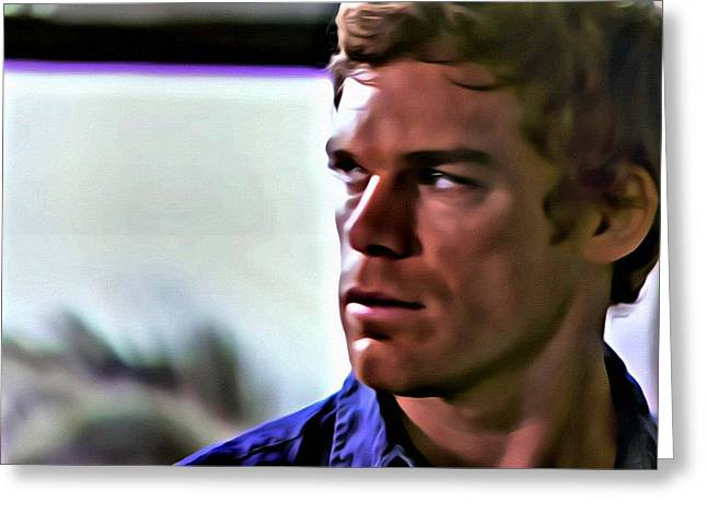 Dexter Morgan Greeting Card by Florian Rodarte