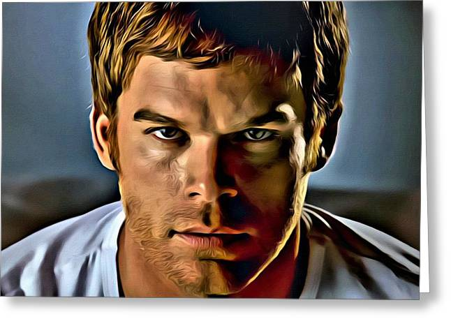 Dexter Portrait Greeting Card by Florian Rodarte