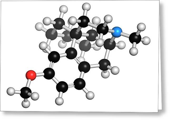 Dextromethorphan Cough Suppressant Drug Greeting Card by Molekuul