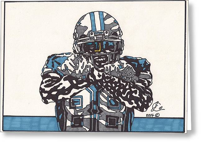 Bryant Greeting Cards - Dez Bryant Greeting Card by Jeremiah Colley