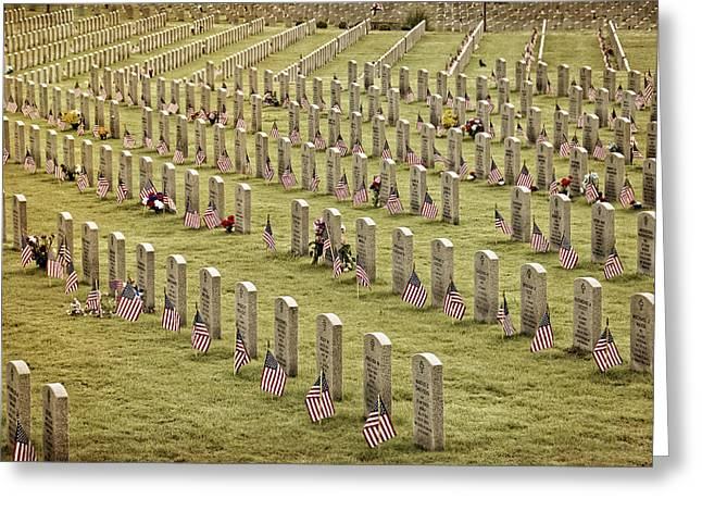 Dfw National Cemetery II Greeting Card by Joan Carroll