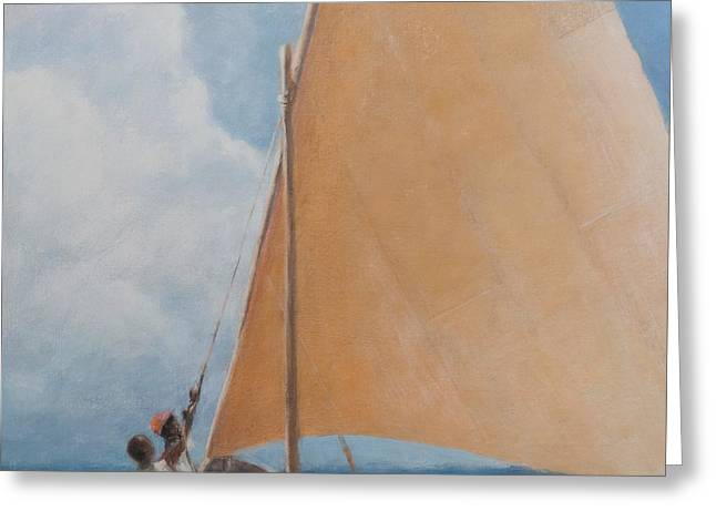 Dhow Kilifi Greeting Card by Lincoln Seligman