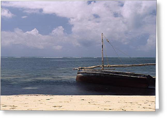 Sailboat Images Greeting Cards - Dhows In The Ocean, Malindi, Coast Greeting Card by Panoramic Images