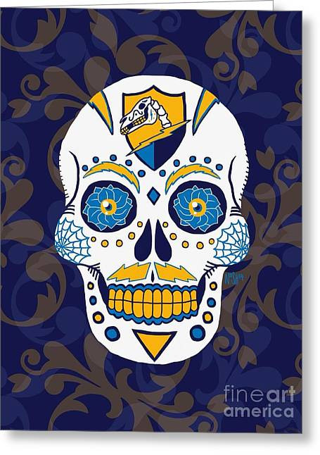 Recently Sold -  - Powder Greeting Cards - Dia de Los Bolts First Variant  Greeting Card by Jeremy Nash