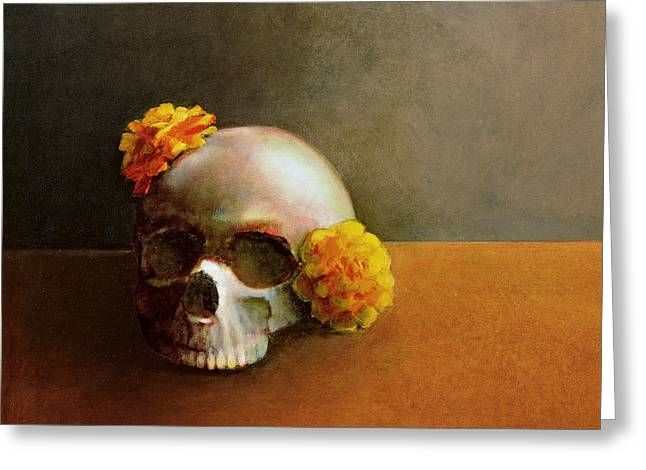 Flowers Framed Prints Greeting Cards - Dia de los Muertos  Greeting Card by Cap Pannell