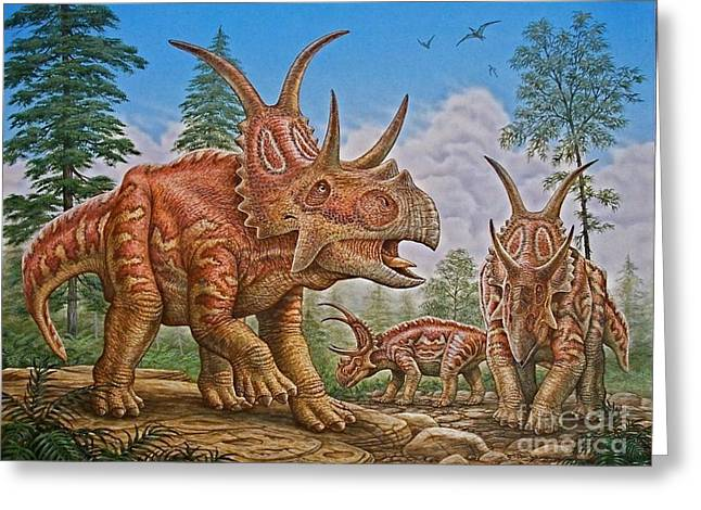 Phil Wilson Greeting Cards - Diabloceratops Greeting Card by Phil Wilson