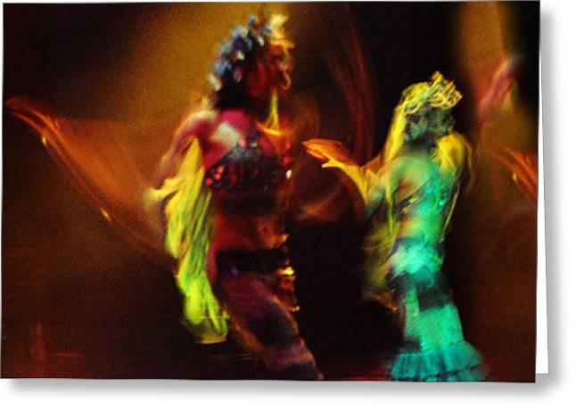 Night Angel Greeting Cards - Diabolic. Passionate Dance of the Night Angels Greeting Card by Jenny Rainbow