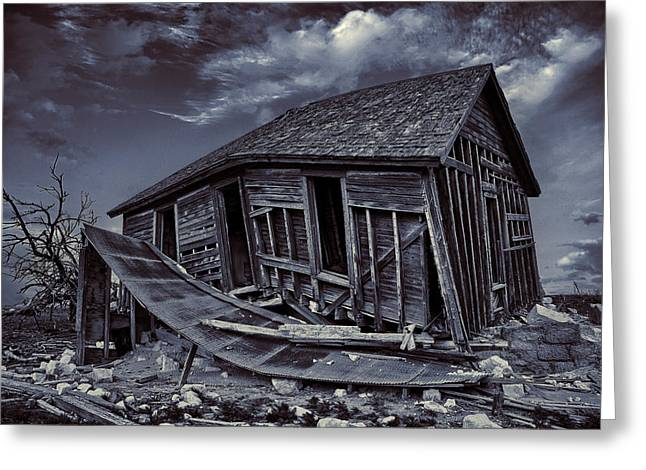 Destroyed Greeting Cards - Diabolical Farmstead Greeting Card by Thomas Zimmerman