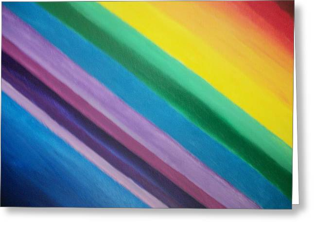 Chakra Rainbow Greeting Cards - Diagonal Chakra Colors Greeting Card by Leonardo Vidal
