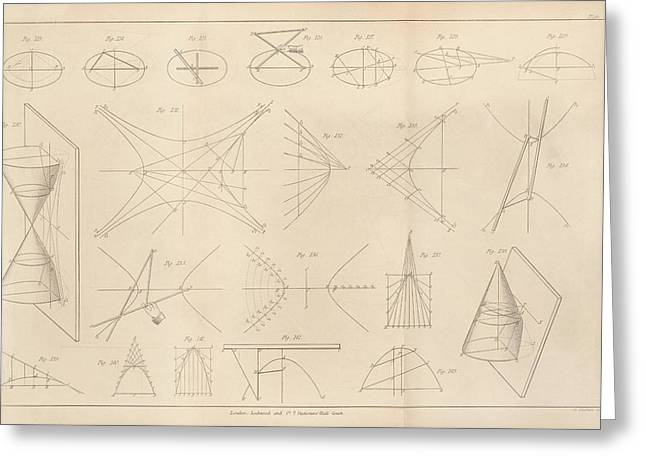 Diagrams Of Conic Sections Greeting Card by King's College London
