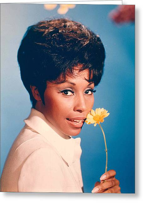 1960 Greeting Cards - Diahann Carroll in Julia  Greeting Card by Silver Screen