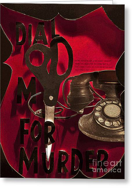 Murder Mixed Media Greeting Cards - Dial M for Murder Inspired poster Greeting Card by Joshua  Avery
