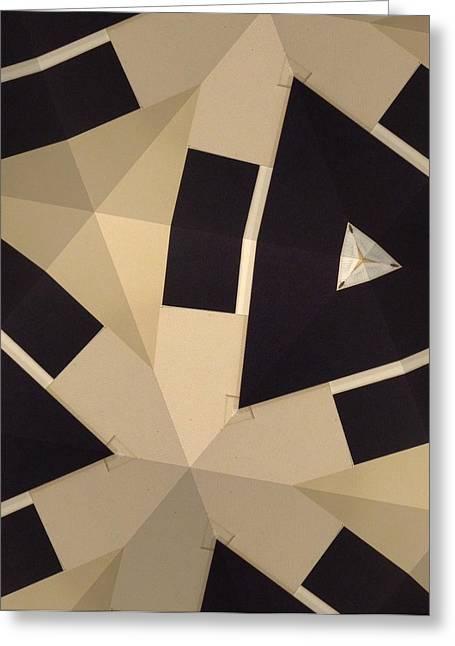 Cardboard Mixed Media Greeting Cards - Diamante Greeting Card by Jesenia Rosado