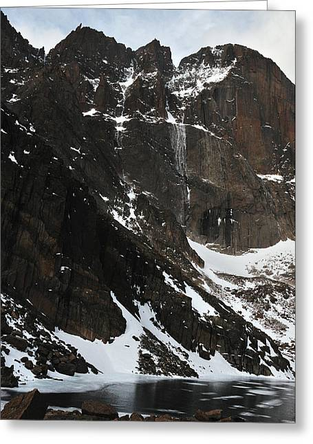 Chasm Lake Greeting Cards - Diamond Avalanche Greeting Card by Adam Paashaus