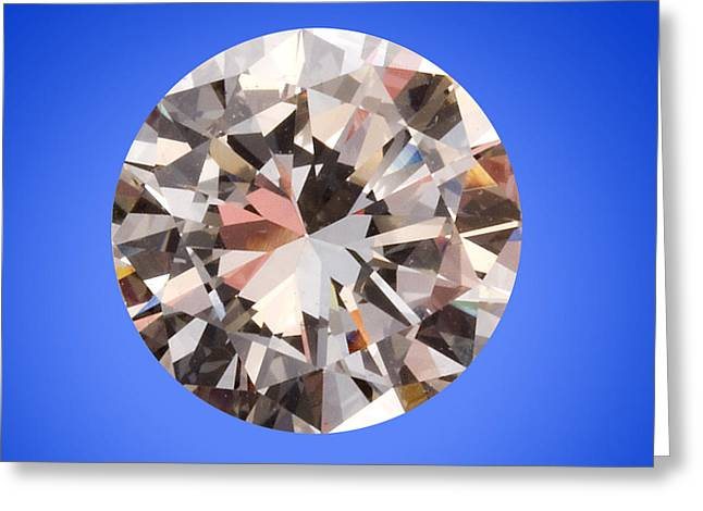 Diamond Greeting Card by Charles D. Winters