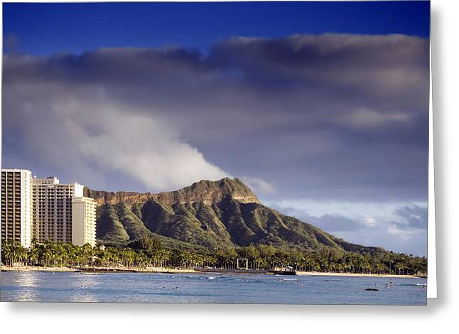 Swimmers Greeting Cards - Diamond Head Greeting Card by Mountain Dreams