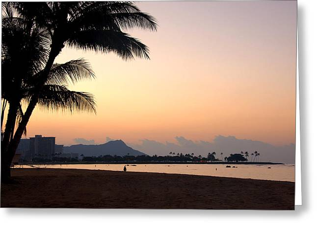 Diamond Head Sunrise - Honolulu Hawaii Greeting Card by Brian Harig