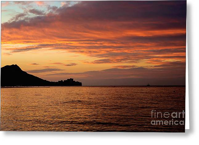 Get Well Card Framed Prints Greeting Cards - Diamond Head Sunrise Greeting Card by Jon Burch Photography