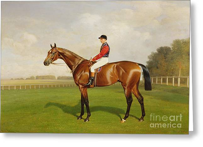 Win Paintings Greeting Cards - Diamond Jubilee Winner of the 1900 Derby Greeting Card by Emil Adam