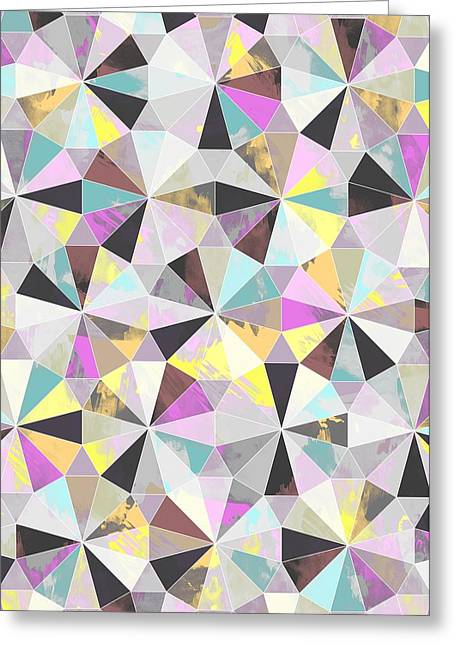 Patterns Paintings Greeting Cards - Diamond Greeting Card by Laurence Lavallee