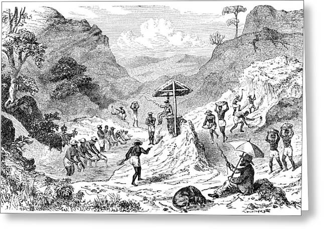 Guard Dog Greeting Cards - Diamond mining in Brazil, artwork Greeting Card by Science Photo Library