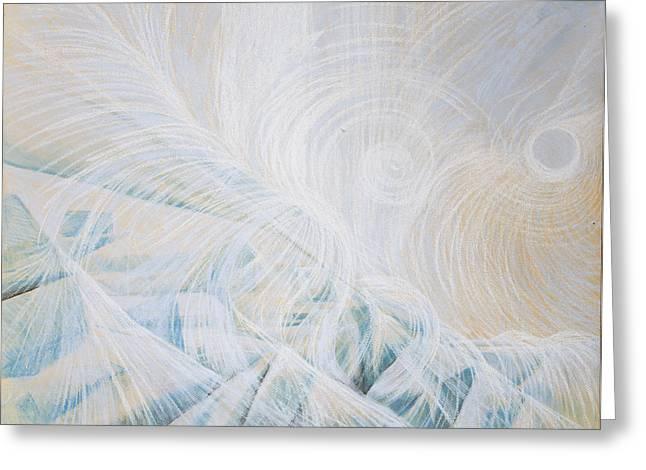 Snow Drifts Pastels Greeting Cards - Diamond Mirror Pass Greeting Card by Zuzana Drobnik