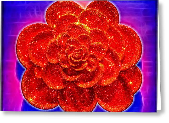 Best Sellers -  - Wildlife Celebration Greeting Cards - Diamond Rose Greeting Card by Mariola Bitner