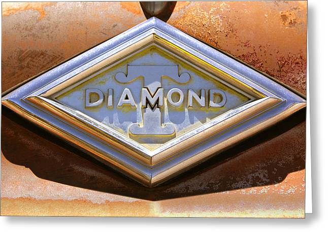 Diamond Digital Greeting Cards - Diamond T Truck Emblem Greeting Card by Mike McGlothlen