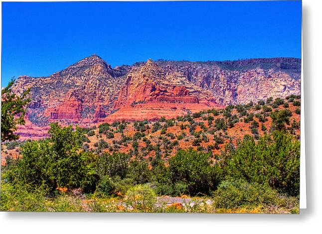 Iron Oxide Greeting Cards - Diamondback Gulch Near Sedona Arizona IX Greeting Card by David Patterson