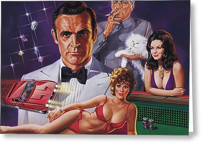 Connery Greeting Cards - Diamonds Are Forever Greeting Card by Dick Bobnick