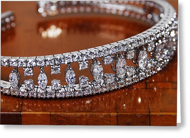 Diamonds Bracelet Greeting Card by Virna  Santolia