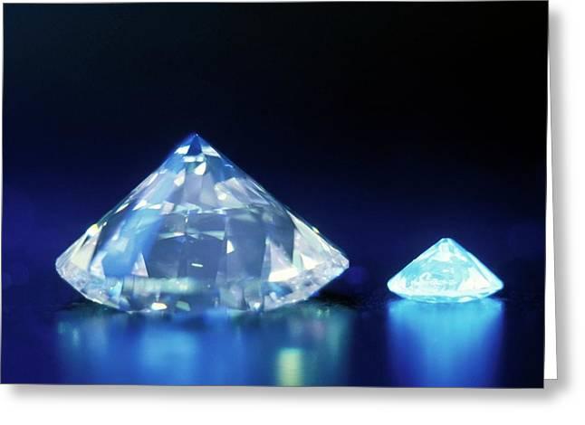 Diamonds Under Uv Light Greeting Card by Patrick Landmann