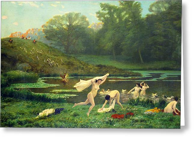 Gerome Greeting Cards - Diana And Actaeon Greeting Card by Jean-Leon Gerome