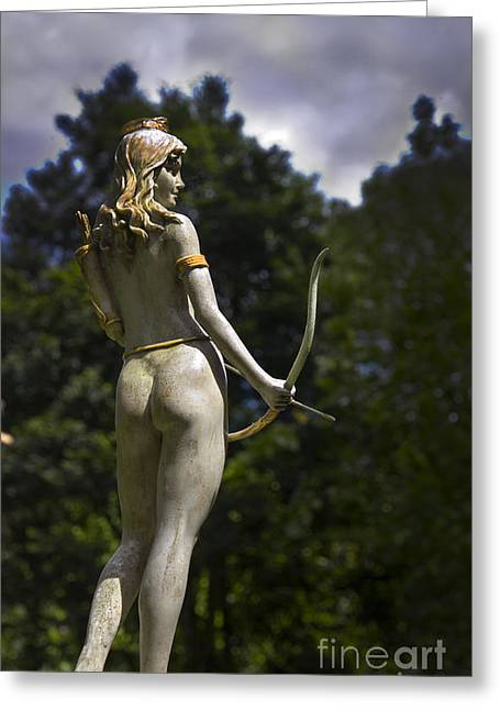 Armband Greeting Cards - Diana - Goddess Of The Hunt Greeting Card by Al Bourassa