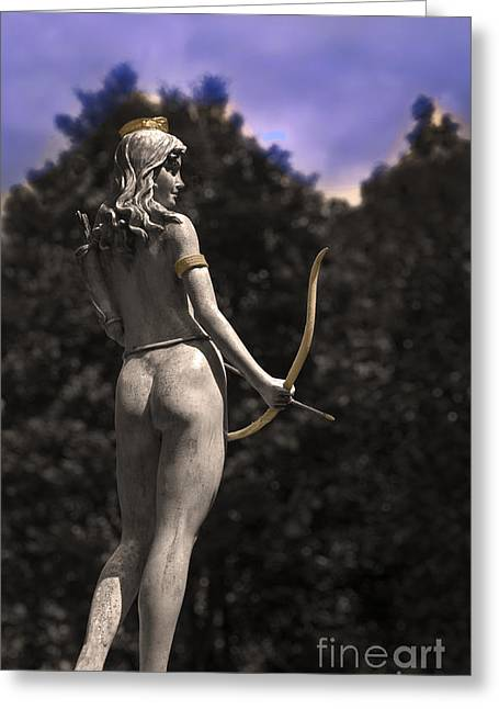 Greek Sculpture Greeting Cards - Diana Goddess Of The Hunt III Greeting Card by Al Bourassa