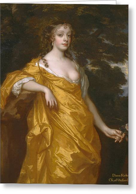 Countess Greeting Cards - Diana Kirke later Countess of Oxford Greeting Card by Peter Lely